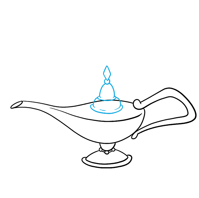 How to Draw the Genie Lamp from Aladdin Step 07