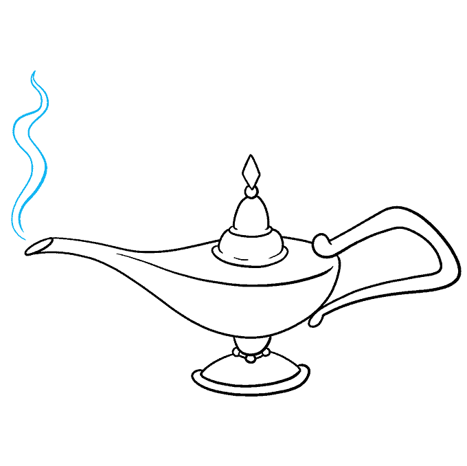 How to Draw the Genie Lamp from Aladdin Step 08