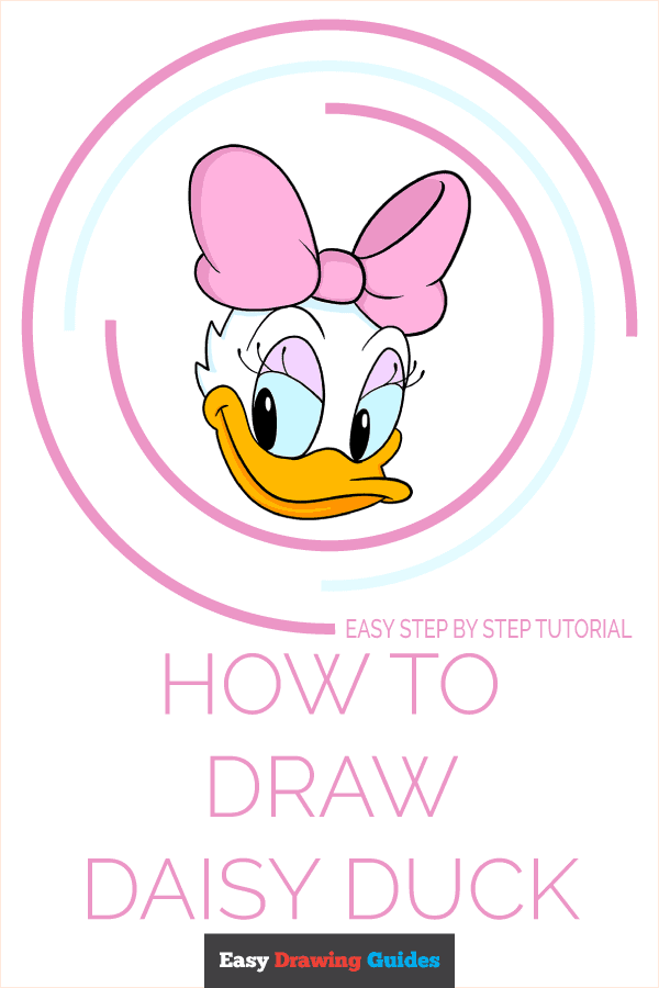 How to Draw Daisy Duck Pinterest Image