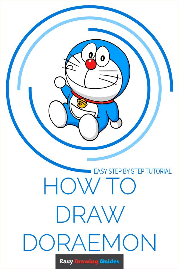 How to Draw Doraemon Pinterest Image