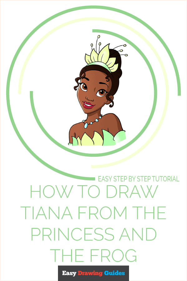 How to Draw Tiana from The Princess and The Frog Pinterest Image