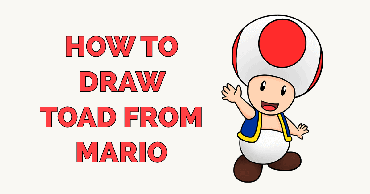 How to Draw Toad from Mario Featured Image