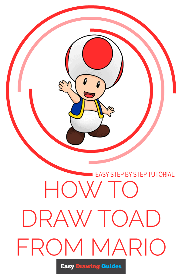 How to Draw Toad from Mario Pinterest Image