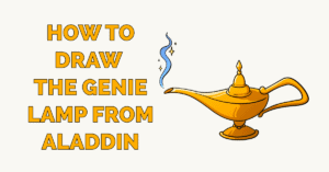 How to Draw the Genie Lamp from Aladdin Featured Image
