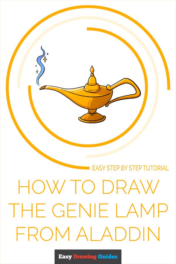 How to Draw the Genie Lamp from Aladdin Pinterest Image