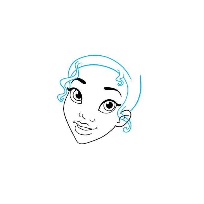 How to Draw Tiana from The Princess and The Frog Step 03