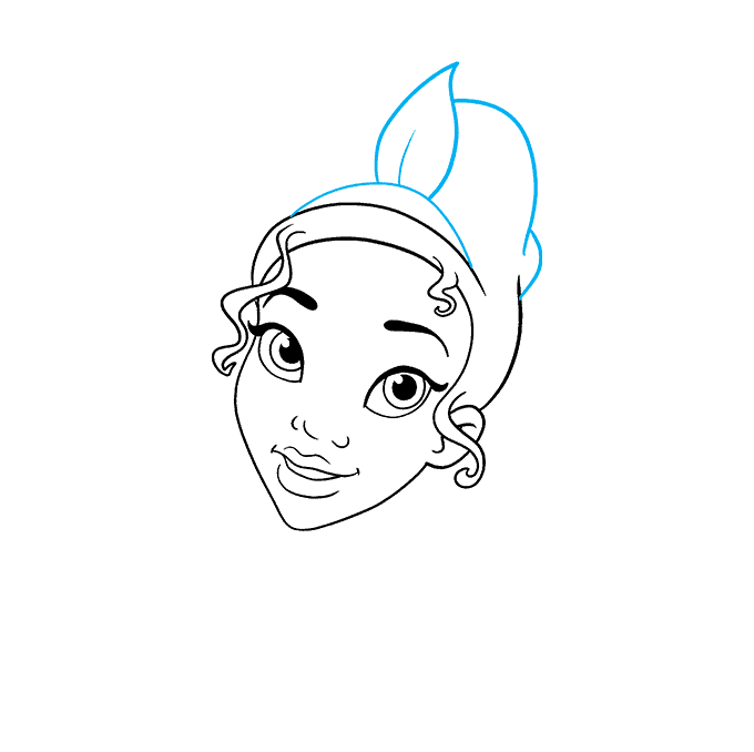 How to Draw Tiana from The Princess and The Frog Step 04