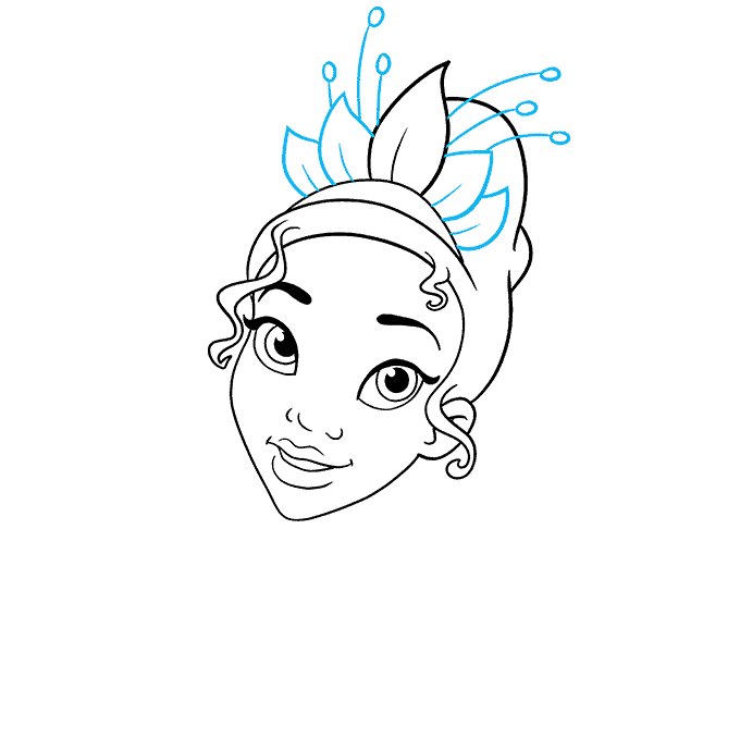How to Draw Tiana from The Princess and The Frog Step 05