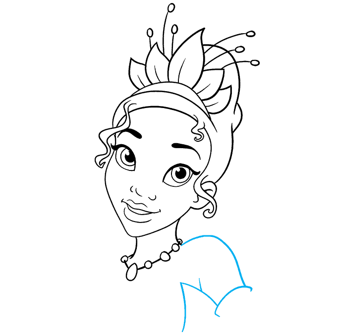 How to Draw Tiana from The Princess and The Frog Step 07