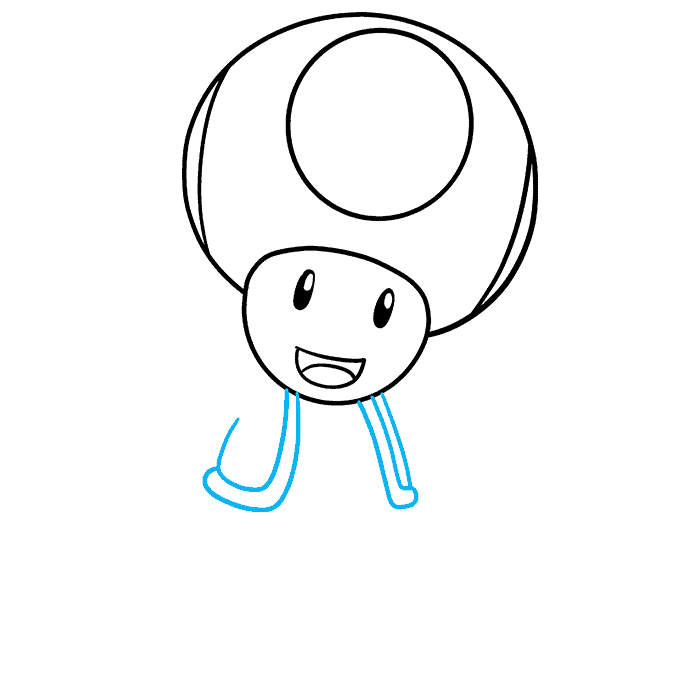 How to Draw Toad from Mario Step 05
