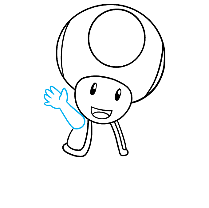 How to Draw Toad from Mario Step 06