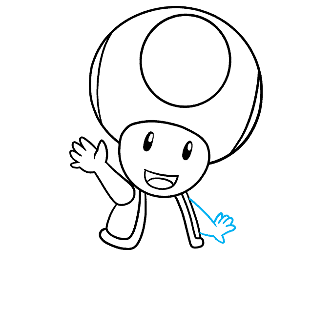 How to Draw Toad from Mario Step 07