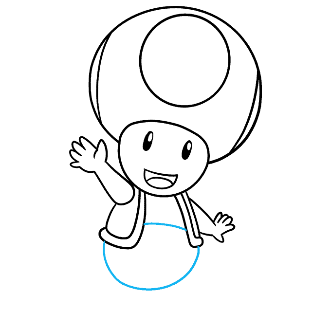 How to Draw Toad from Mario Step 08