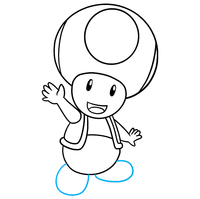 How to Draw Toad from Mario Step 09