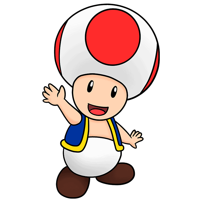 How to Draw Toad from Mario Step 10