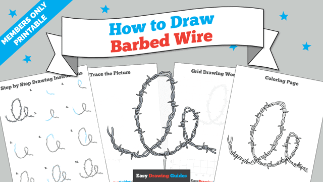 Printables thumbnail: How to Draw Barbed Wire