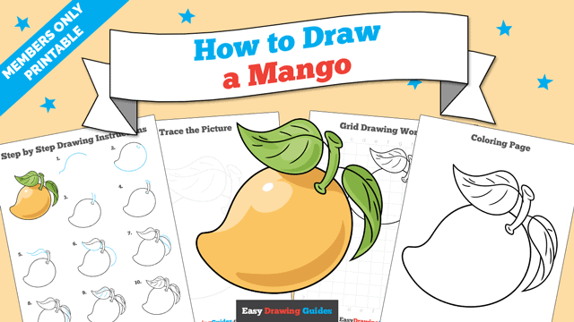 Printables thumbnail: How to Draw a Mango