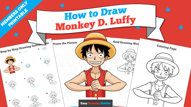 Printables thumbnail: How to Draw Monkey D. Luffy from One Piece