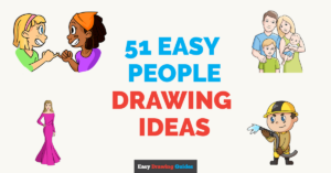 51 Easy People Drawing Ideas