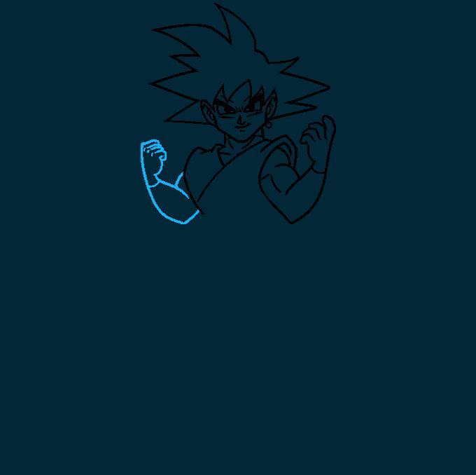 How to Draw Goku Black Step 06