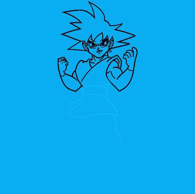 How to Draw Goku Black Step 07