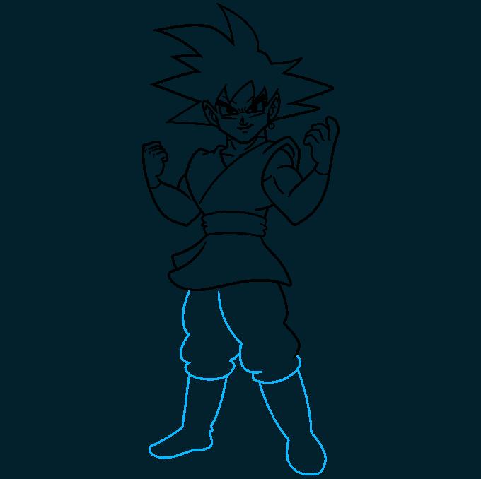 How to Draw Goku Black Step 08