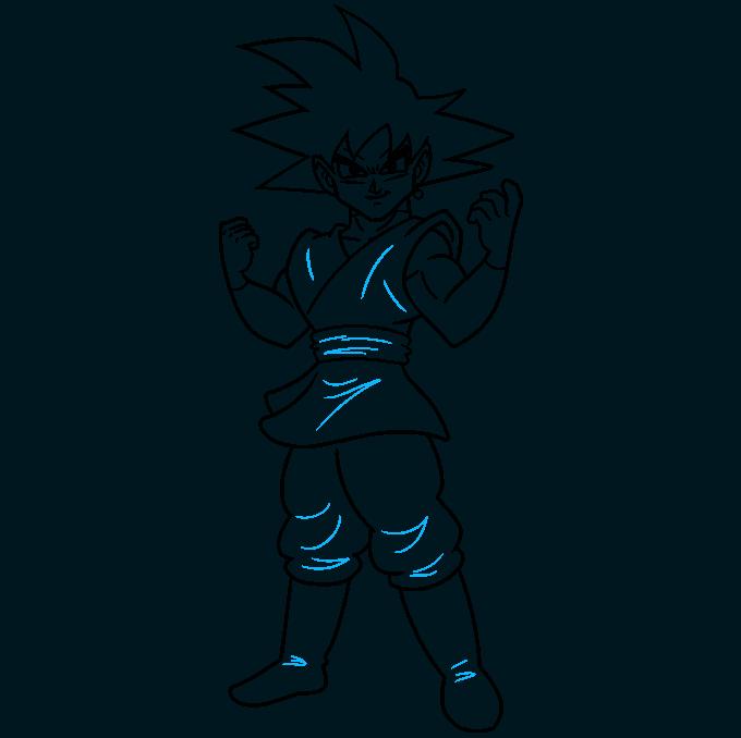 How to Draw Goku Black Step 09