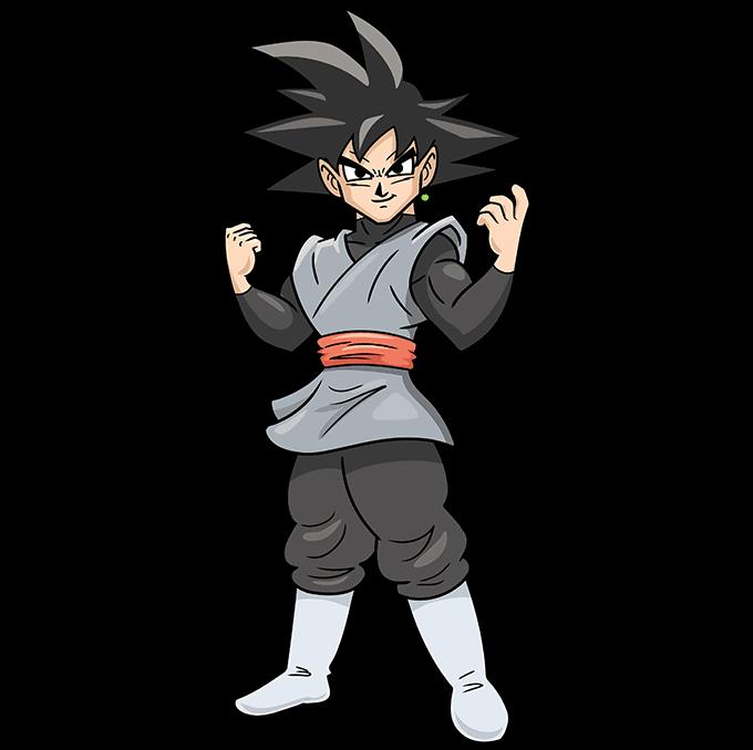 How to Draw Goku Black Step 10