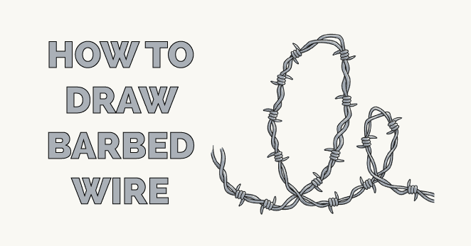 How to Draw Barbed Wire Featured Image