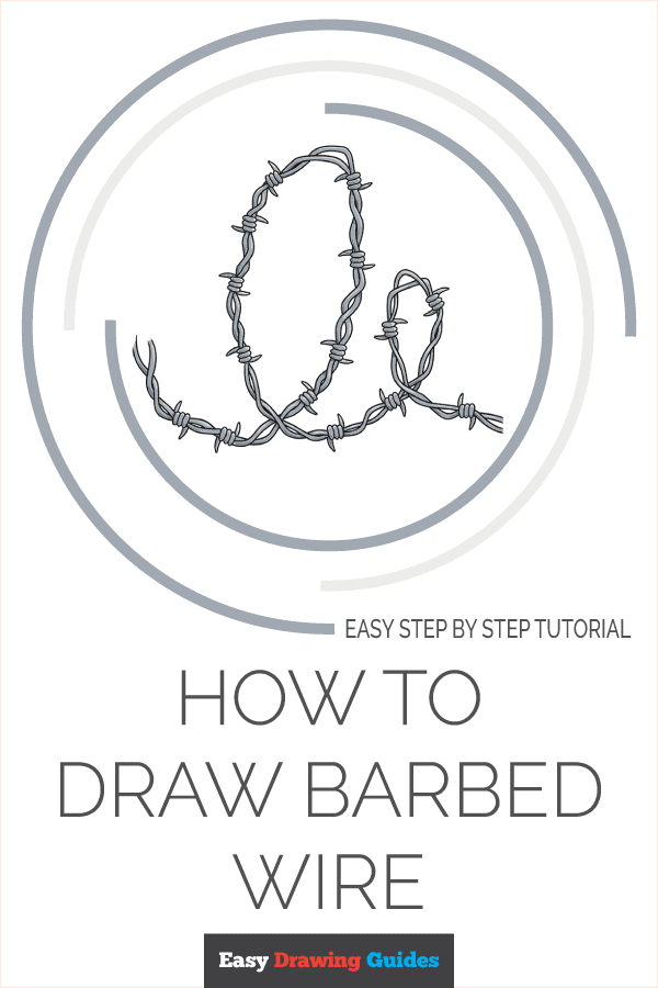 How to Draw Barbed Wire Pinterest Image