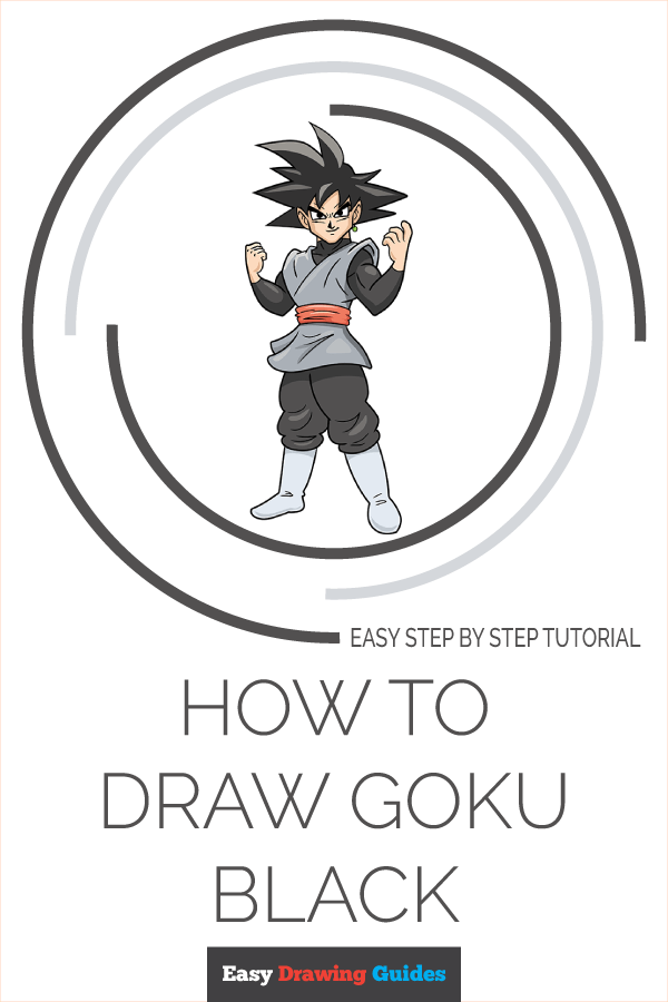 How to Draw Goku Black Pinterest Image