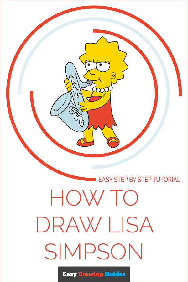How to Draw Lisa Simpson Pinterest Image