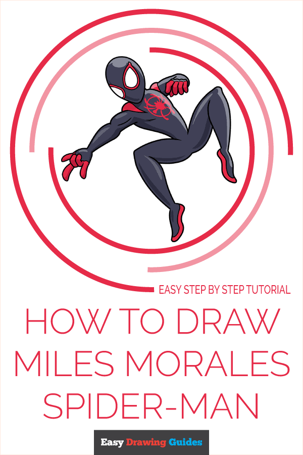 How to Draw Miles Morales Spider-Man Pinterest Image