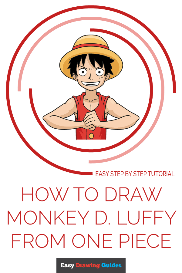 How to Draw Monkey D. Luffy from One Piece Pinterest Image