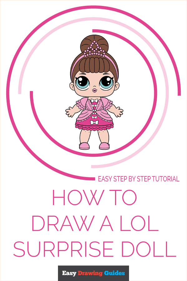 How to Draw a LOL Surprise Doll Pinterest Image