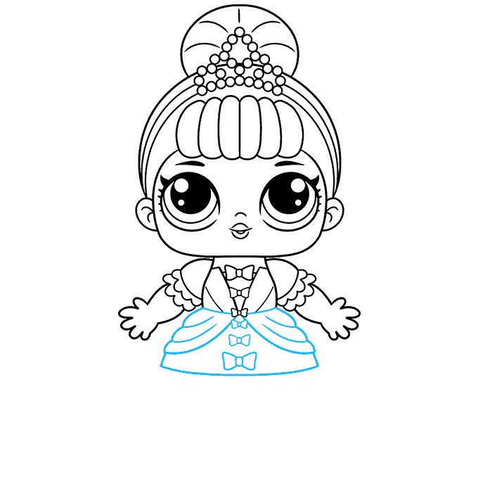 How to Draw a LOL Surprise Doll Step 07