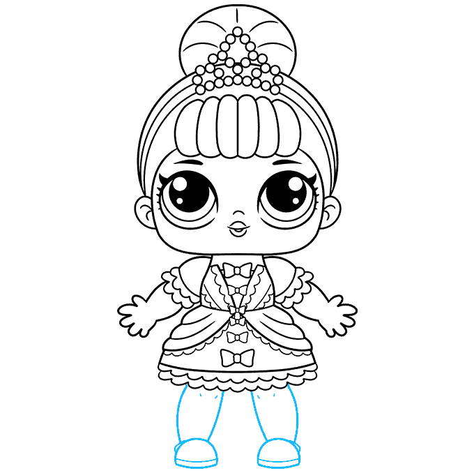 How to Draw a LOL Surprise Doll Step 09