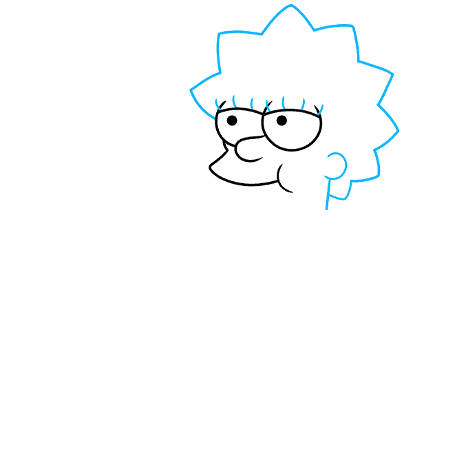 How to Draw Lisa Simpson Step 02