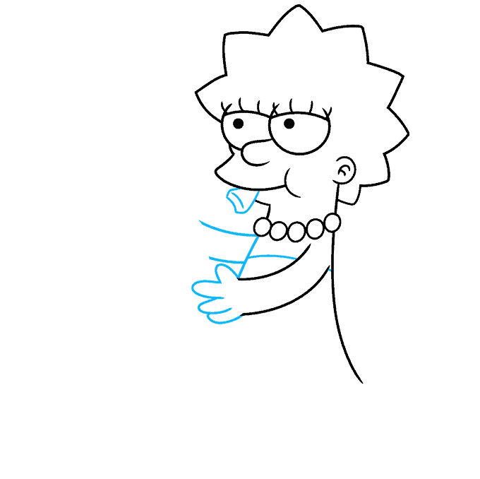 How to Draw Lisa Simpson Step 04