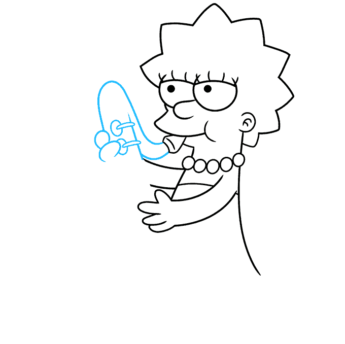 How to Draw Lisa Simpson Step 05