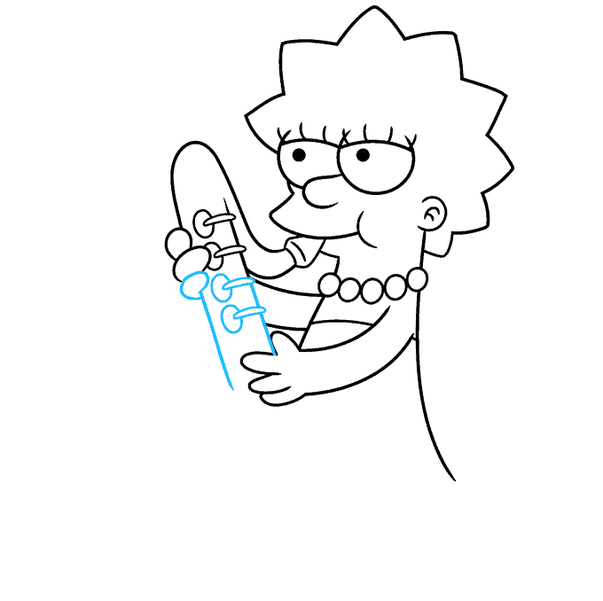 How to Draw Lisa Simpson Step 06