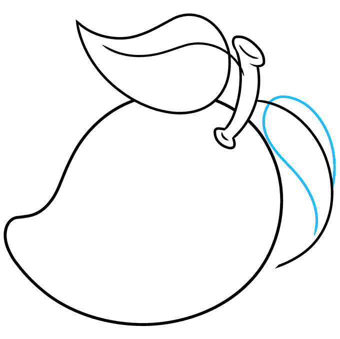 How to Draw a Mango Step 07