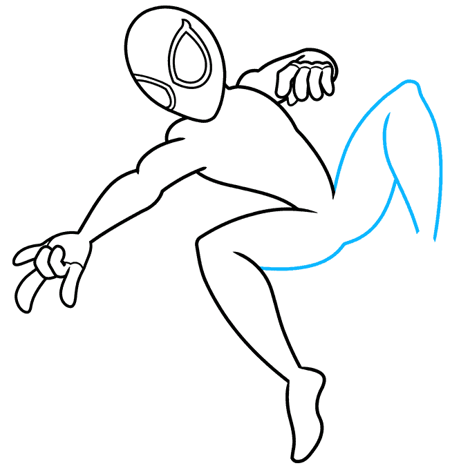 How to Draw Miles Morales Spider-Man Step 07