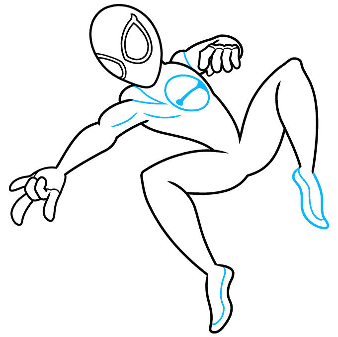 How to Draw Miles Morales Spider-Man Step 08