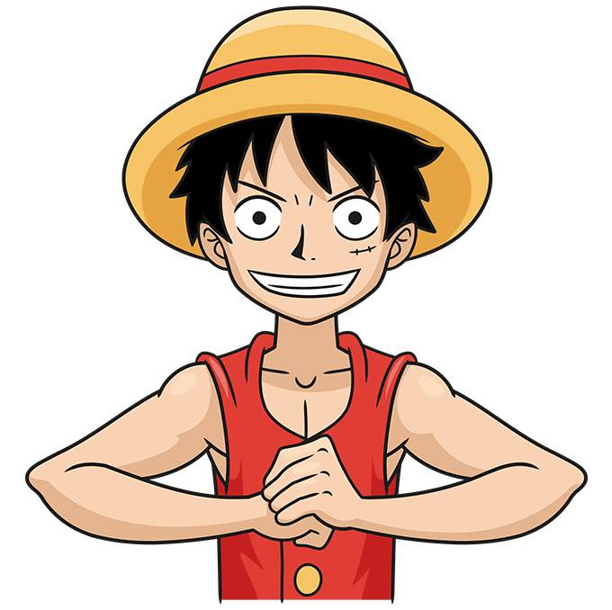 How to Draw Monkey D. Luffy from One Piece Step 10