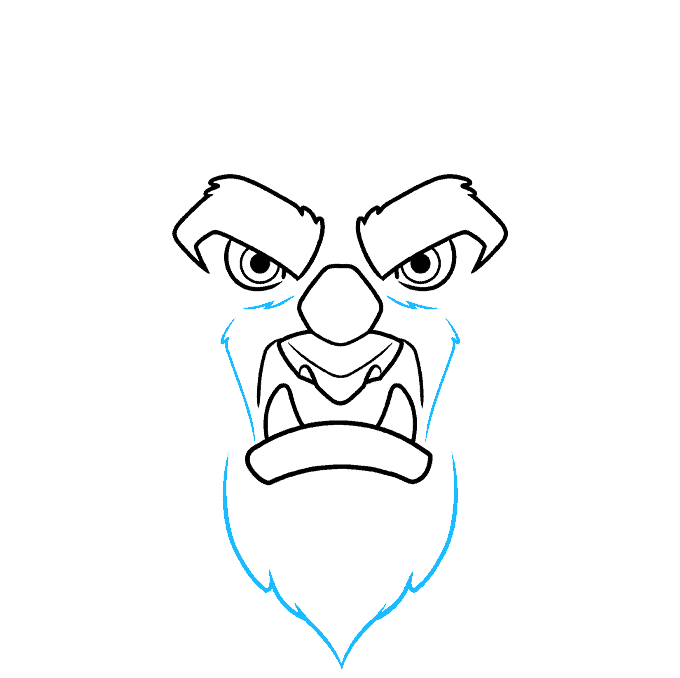 How to Draw the Beast from Beauty and the Beast Step 04