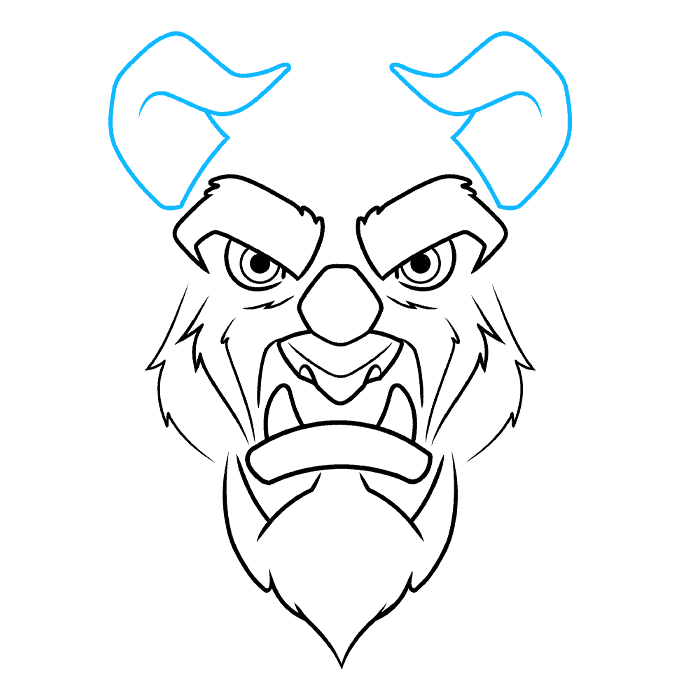 How to Draw the Beast from Beauty and the Beast Step 06