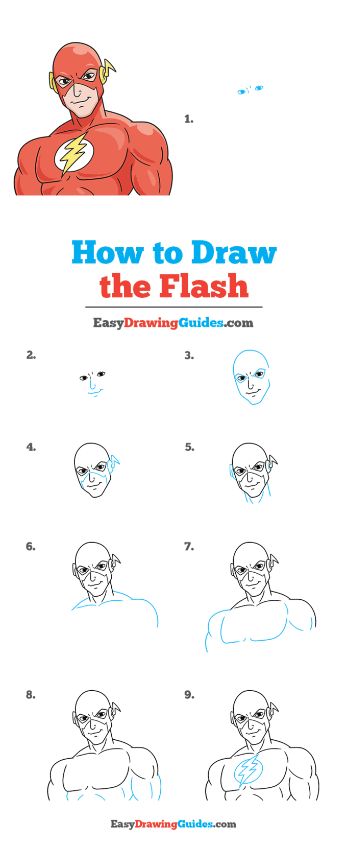 How to Draw the Flash Step by Step Tutorial Image