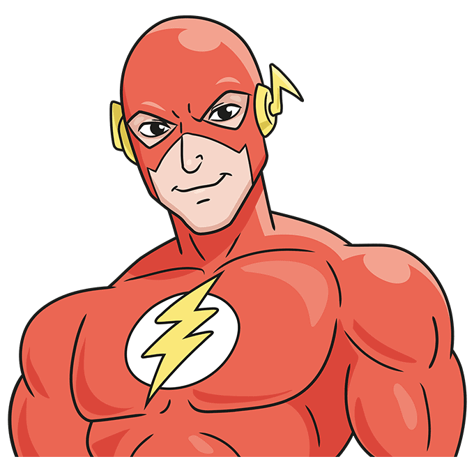 How to Draw the Flash Step 10