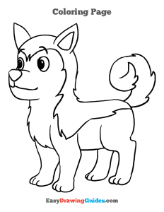 335 how to draw a husky - ebook-color-page-thumbnail